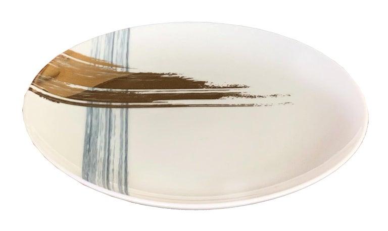 Modern Set of 2 Fruit Plate Artisan Brush André Fu Living Tableware New For Sale