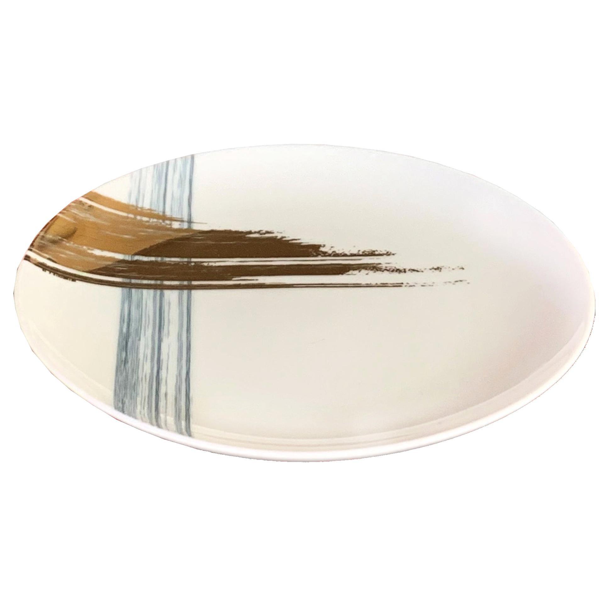 Set of 2 Fruit Plate Artisan Brush André Fu Living Tableware New
