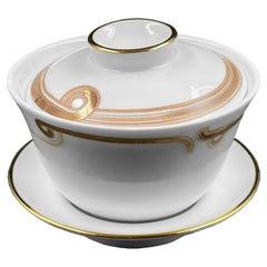 Set of 2 Gaiwan Tea Set Art Déco Garden André Fu Living Tableware New
