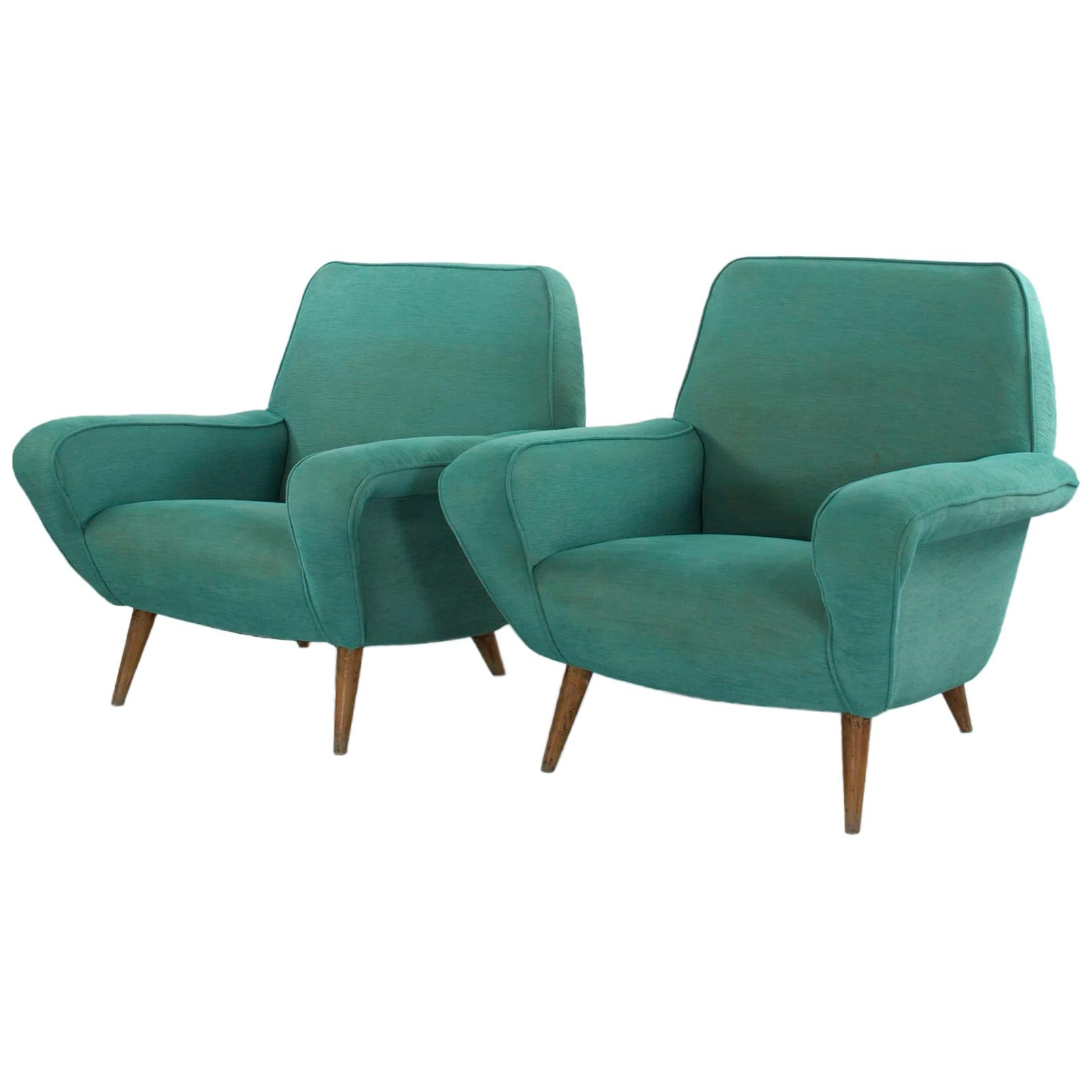 Set of 2 Gianfranco Frattini Chairs Modell 830, 1950s, Cassina, Italy