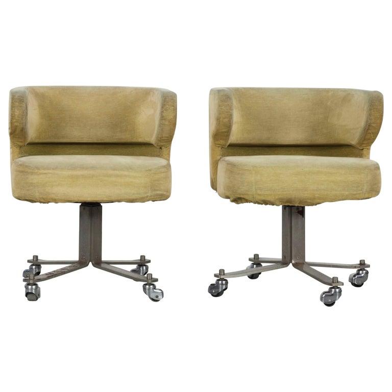 "Set of 2 Gianni Moscatelli ""Poney"" Swivel Chairs, Formanova, 1960s"