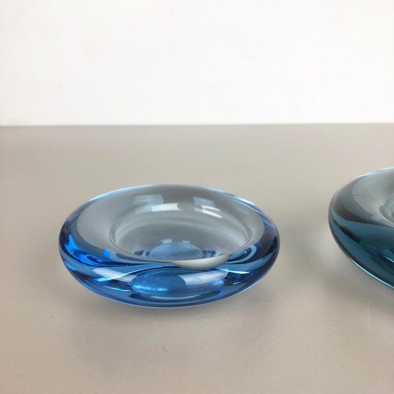 Mid-Century Modern Set of 2 Glass Shell Bowl Elements by Per Lutken for Holmegaard. Denmark, 1960s For Sale