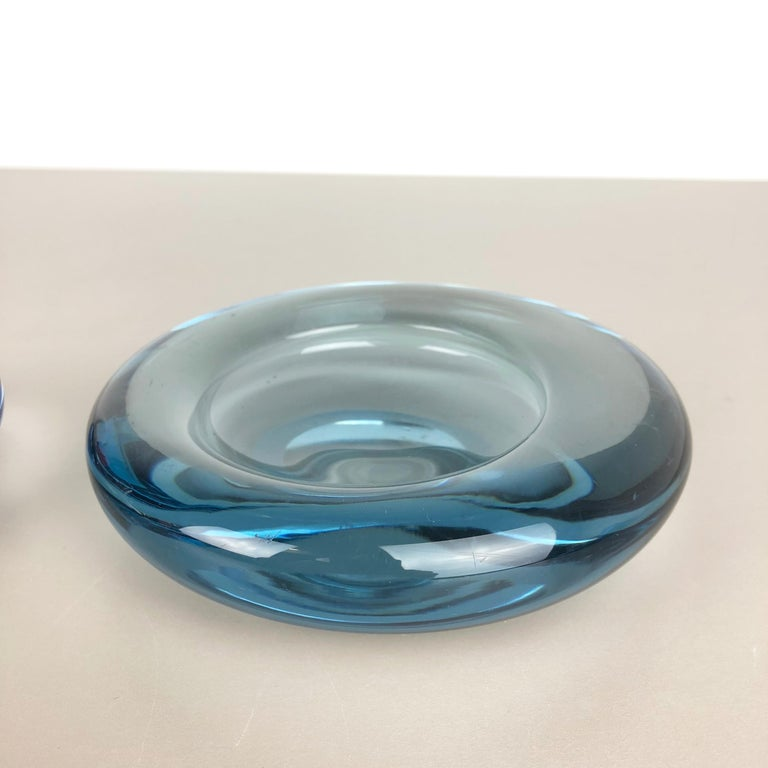 Danish Set of 2 Glass Shell Bowl Elements by Per Lutken for Holmegaard. Denmark, 1960s For Sale
