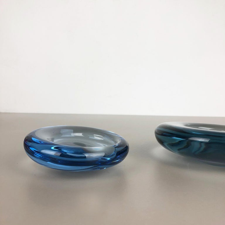 20th Century Set of 2 Glass Shell Bowl Elements by Per Lutken for Holmegaard. Denmark, 1960s For Sale