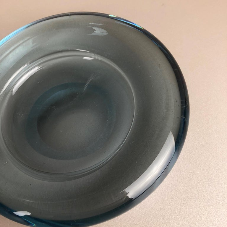 Set of 2 Glass Shell Bowl Elements by Per Lutken for Holmegaard. Denmark, 1960s For Sale 1