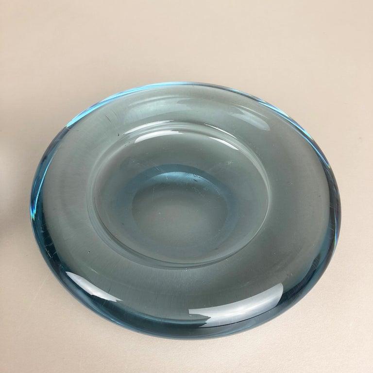 Set of 2 Glass Shell Bowl Elements by Per Lutken for Holmegaard. Denmark, 1960s For Sale 2