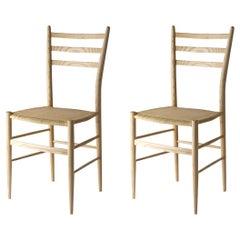 Set of 2 Gobbetta Ash Chairs