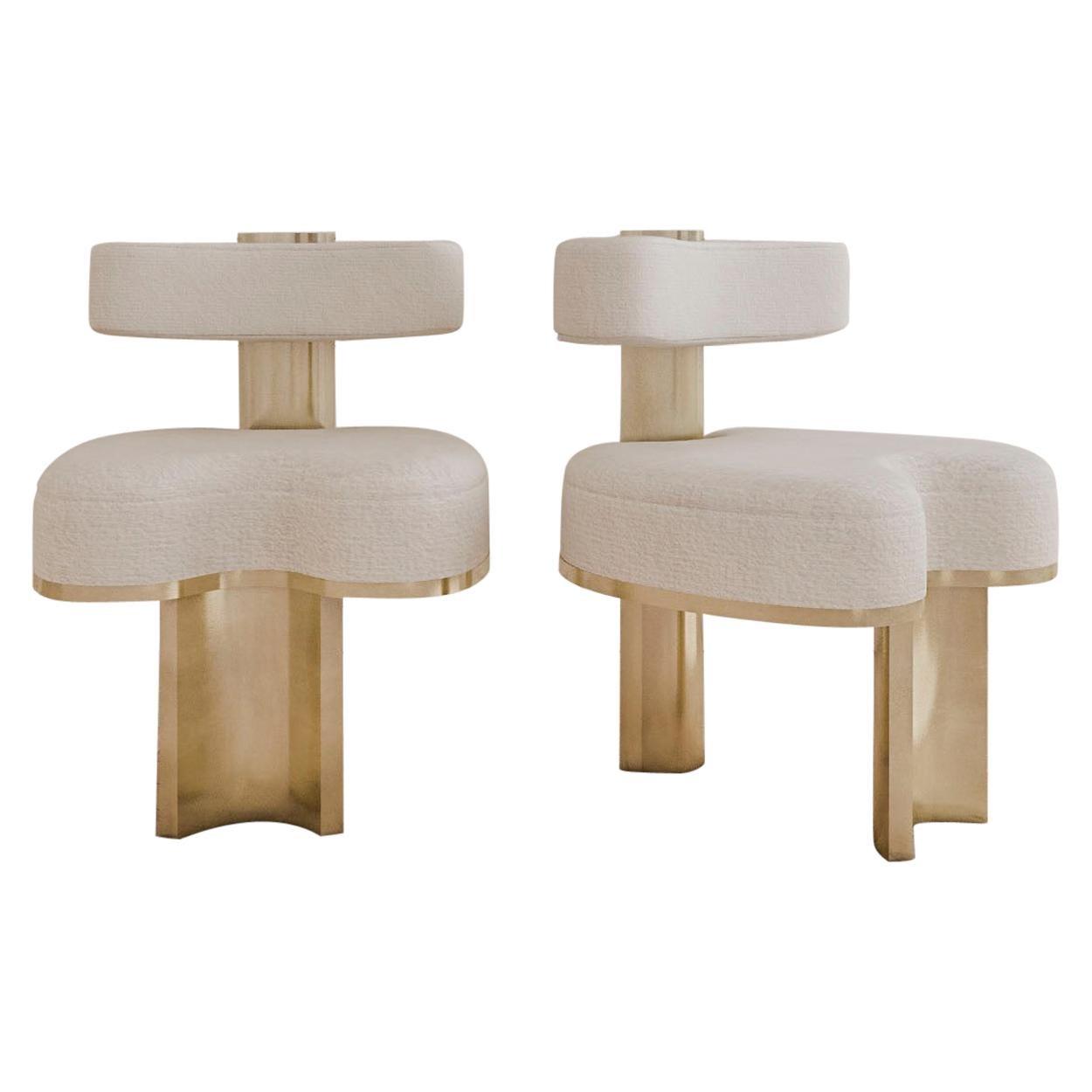 Set of 2 Gold Yoda Chairs by Melis Tatlicibasi