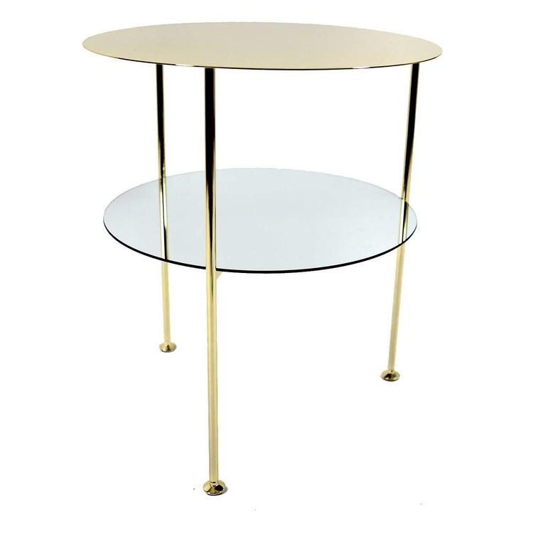 Italian Set of 2 Golden Tabu Side Tables For Sale
