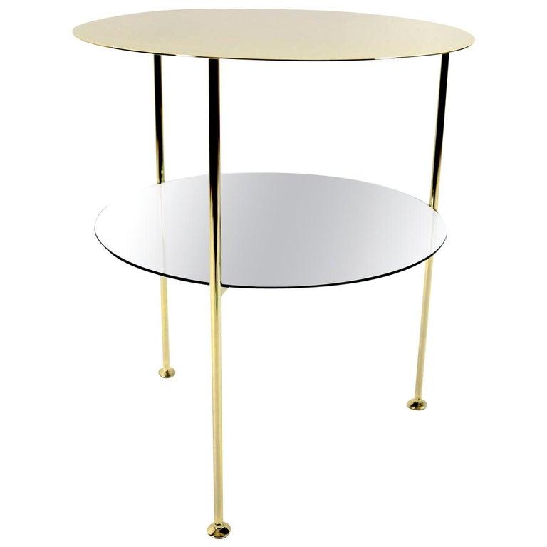Set of 2 Golden Tabu Side Tables For Sale