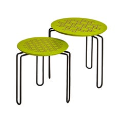 Set of 2 Green Caleido Nesting Table