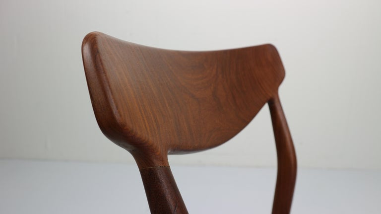 Set of 2 Harry Østergaard Teak Chairs, Denmark, 1960s For Sale 5