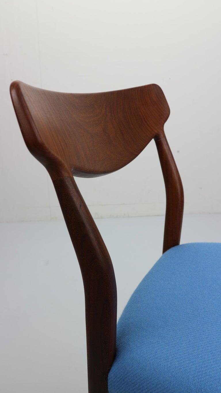 Set of 2 Harry Østergaard Teak Chairs, Denmark, 1960s For Sale 6