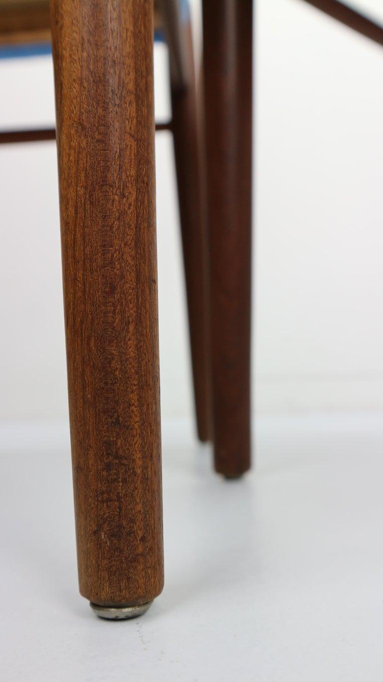 Set of 2 Harry Østergaard Teak Chairs, Denmark, 1960s For Sale 8
