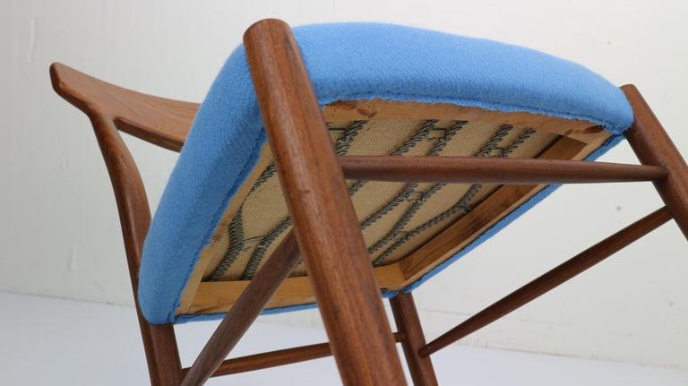 Set of 2 Harry Østergaard Teak Chairs, Denmark, 1960s For Sale 11