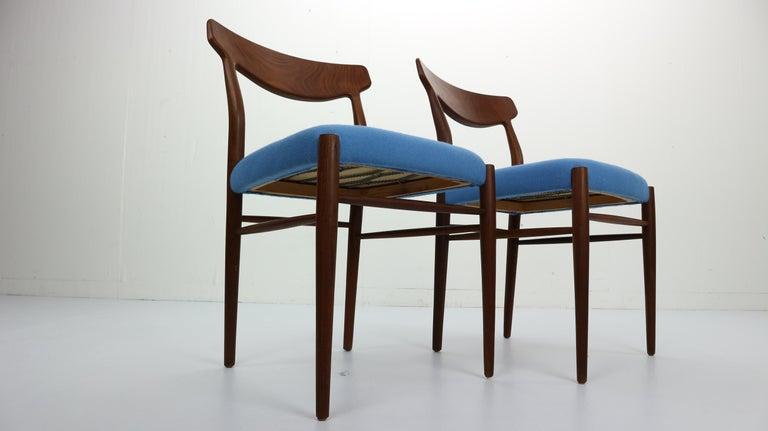 Mid-Century Modern Set of 2 Harry Østergaard Teak Chairs, Denmark, 1960s For Sale