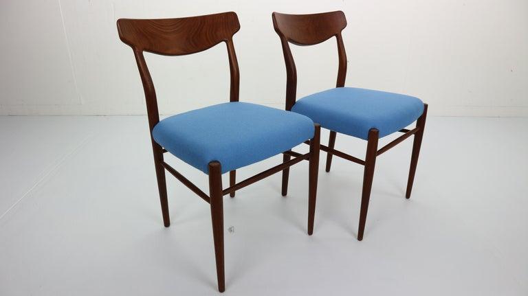 Danish Set of 2 Harry Østergaard Teak Chairs, Denmark, 1960s For Sale