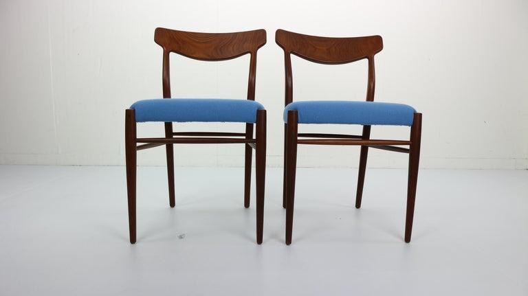 Mid-20th Century Set of 2 Harry Østergaard Teak Chairs, Denmark, 1960s For Sale