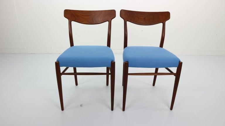 Wool Set of 2 Harry Østergaard Teak Chairs, Denmark, 1960s For Sale