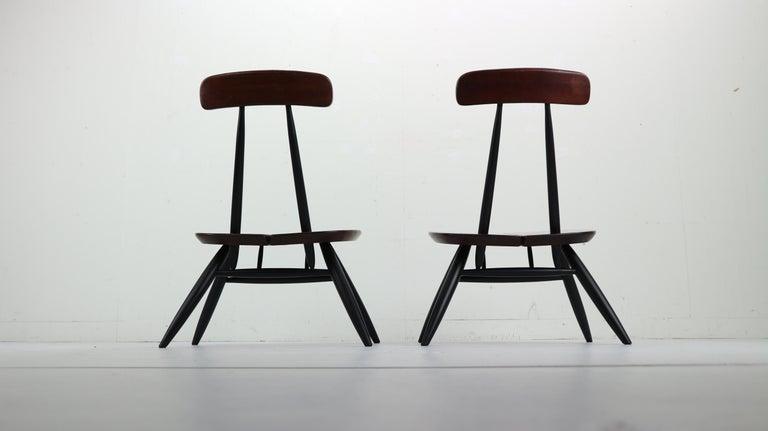 Mid-Century Modern Set of 2 Ilmari Tapiovaara Pirkka Lounge Chairs, Finland, 1955