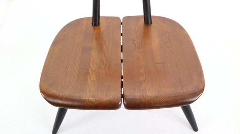 Beech Set of 2 Ilmari Tapiovaara Pirkka Lounge Chairs, Finland, 1955