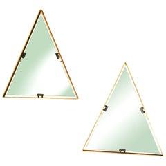 Set of 2 Italian Mirrors in Brass by Cellule Creative Studio for Misia Arte