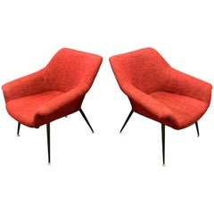 Set of 2 Italian Lounge Chairs