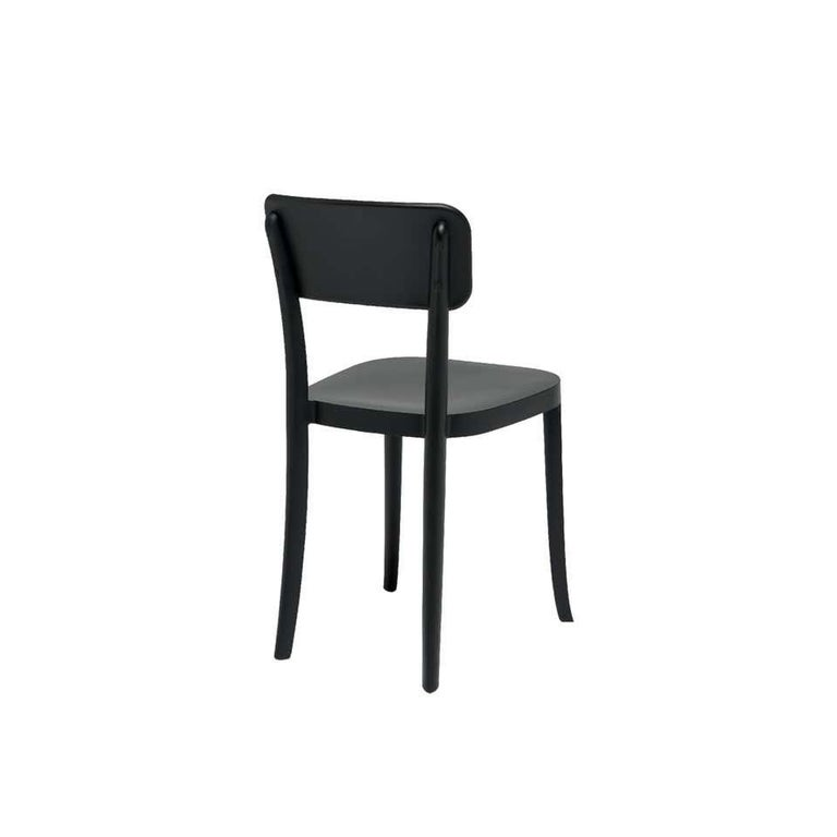 Modern In Stock in Los Angeles, Set of 2 K Black Dining Chairs, Made in Italy For Sale
