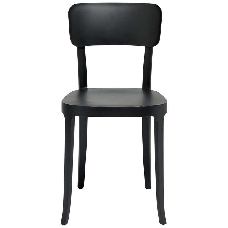 Italian In Stock in Los Angeles, Set of 2 K Black Dining Chairs, Made in Italy For Sale