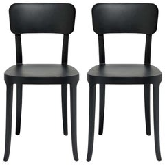 In Stock in Los Angeles, Set of 2 K Black Dining Chairs, Made in Italy