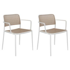 Set of 2 Kartell Audrey Chair by Piero Lissoni in Sand