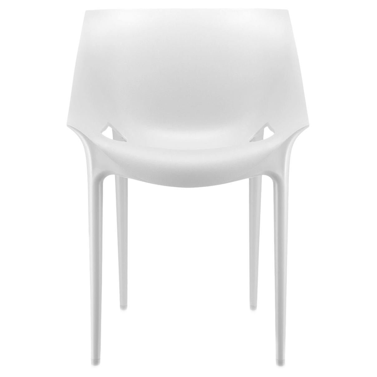Set of 2 Kartell Dr. Yes Chairs in White by Philippe Starck & Eugeni Quitllet