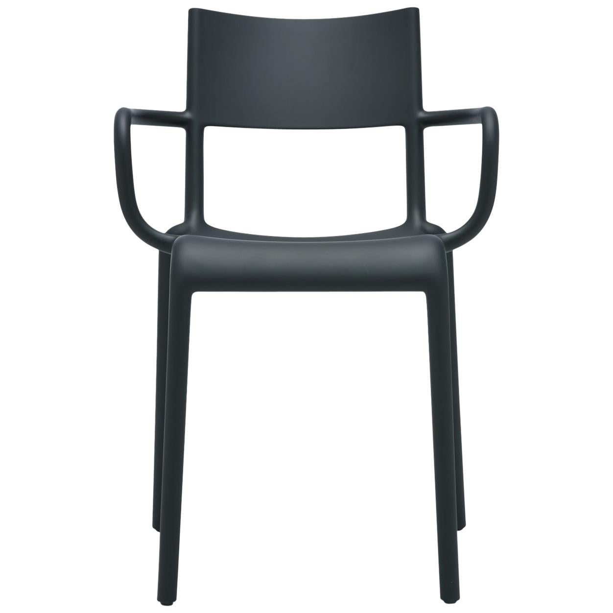 Set of 2 Kartell Generic a Chairs in Black by Philippe Starck