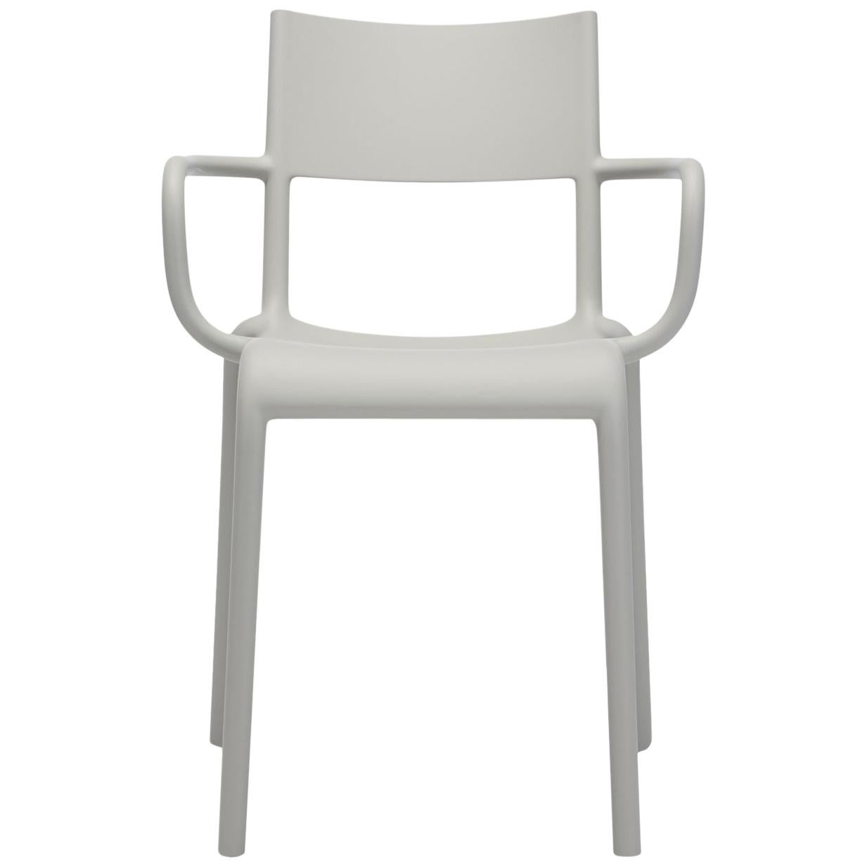 Set of 2 Kartell Generic A Chairs in Grey by Philippe Starck