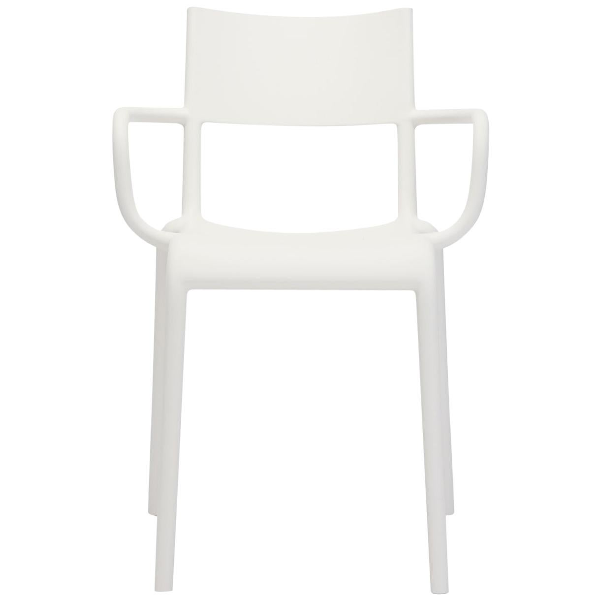Set of 2 Kartell Generic A Chairs in White by Philippe Starck