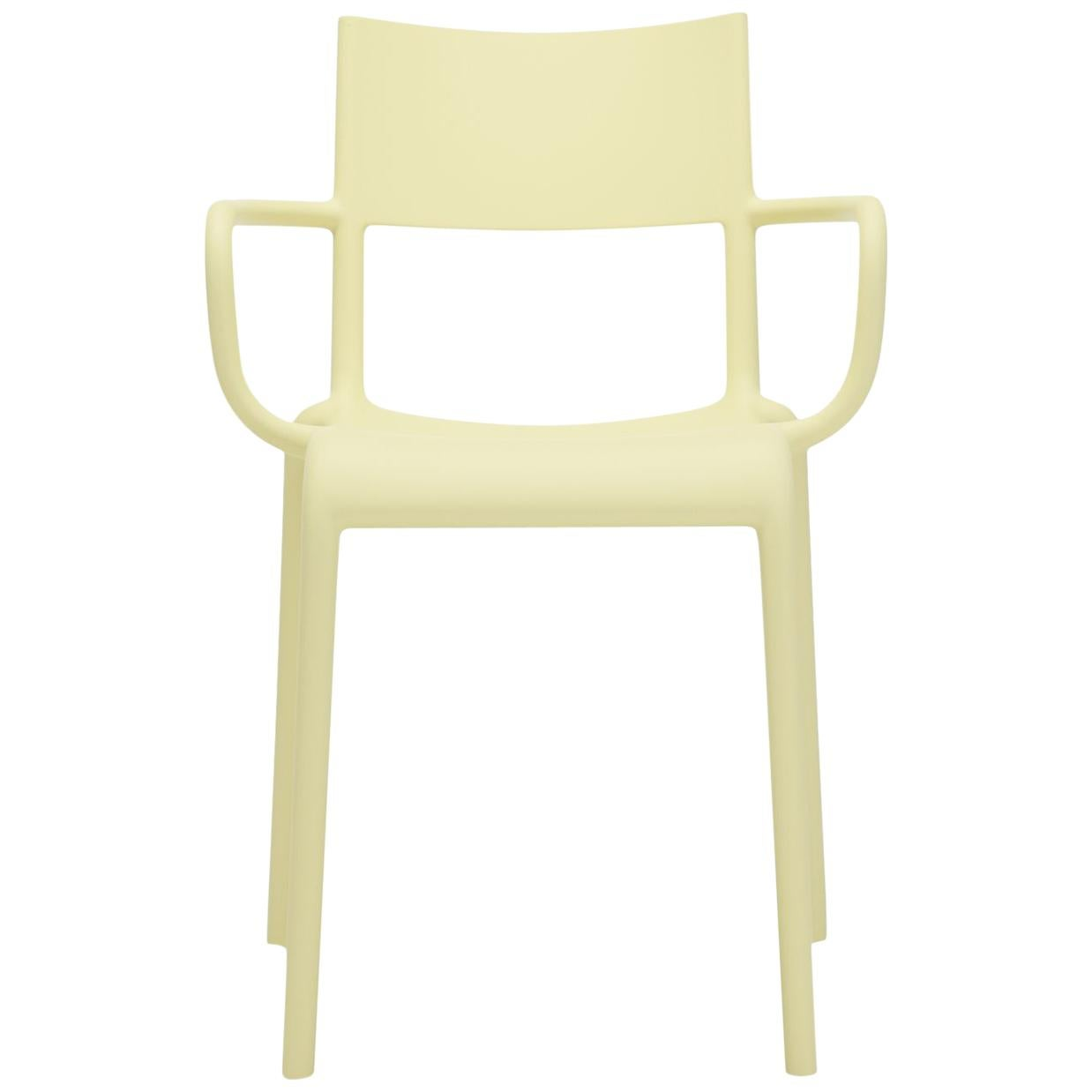 Set of 2 Kartell Generic A Chairs in Yellow by Philippe Starck