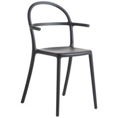 Set of 2 Kartell Generic C Chairs in Black by Philippe Starck