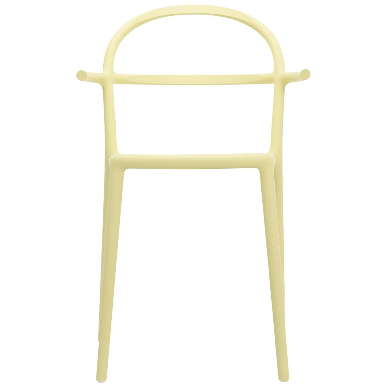 Set of 2 Kartell Generic C Chairs in Yellow by Philippe Starck