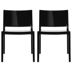 Set of 2 Kartell Lizz Chairs in Black by Piero Lissoni & Carlo Tamborini
