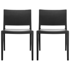 Set of 2 Kartell Lizz Mat Chairs in Black by Patricia Urquiola