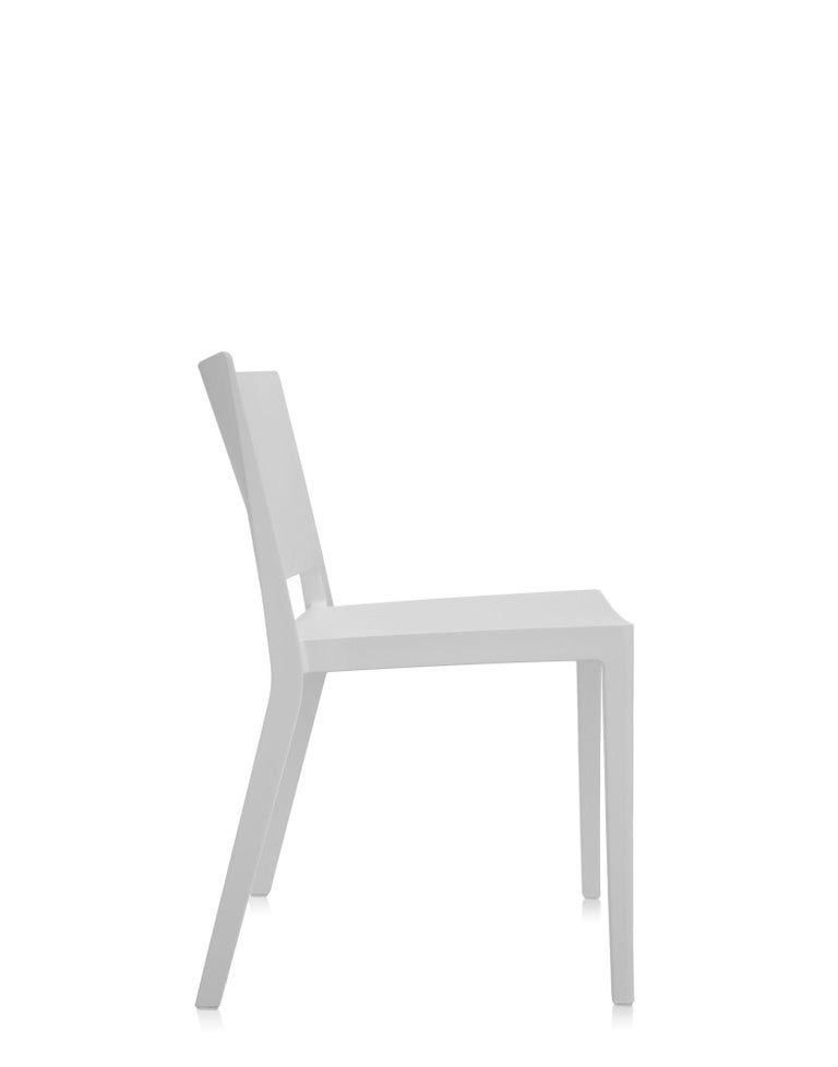 Modern Set of 2 Kartell Lizz Mat Chairs in White by Patricia Urquiola For Sale