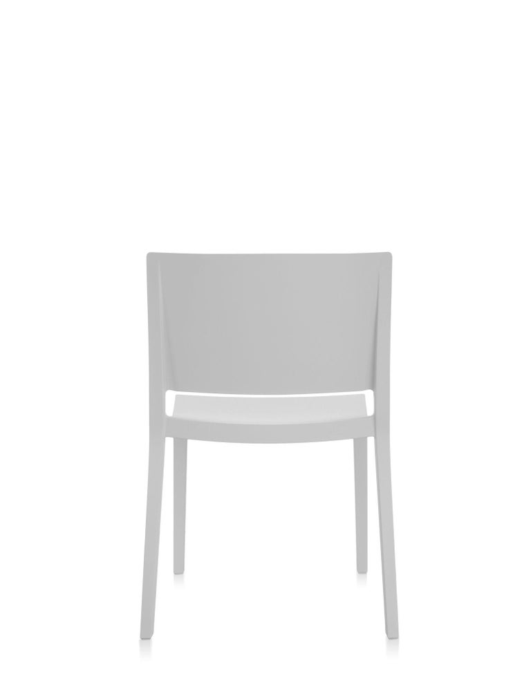 Italian Set of 2 Kartell Lizz Mat Chairs in White by Patricia Urquiola For Sale