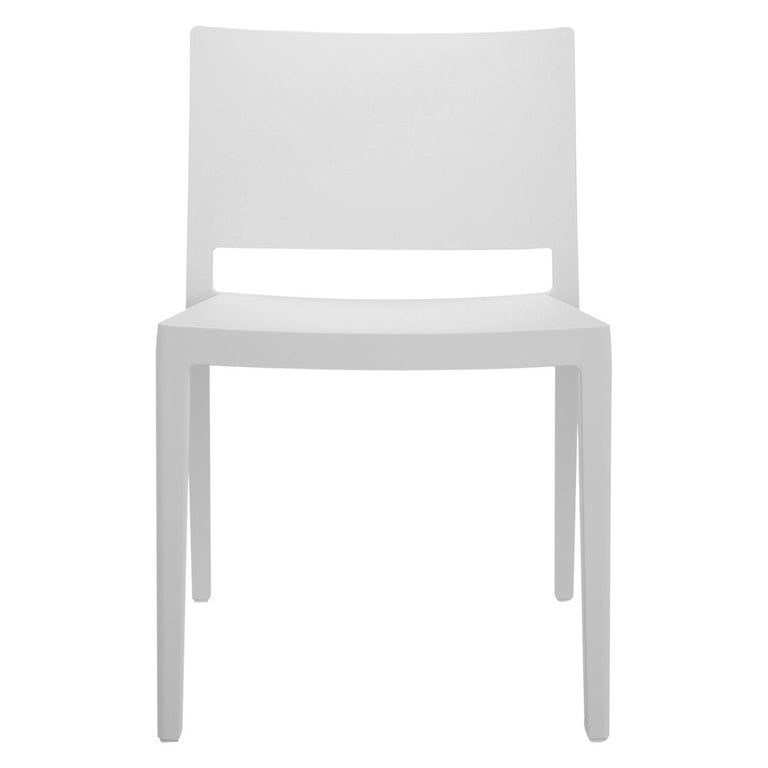 Set of 2 Kartell Lizz Mat Chairs in White by Patricia Urquiola For Sale