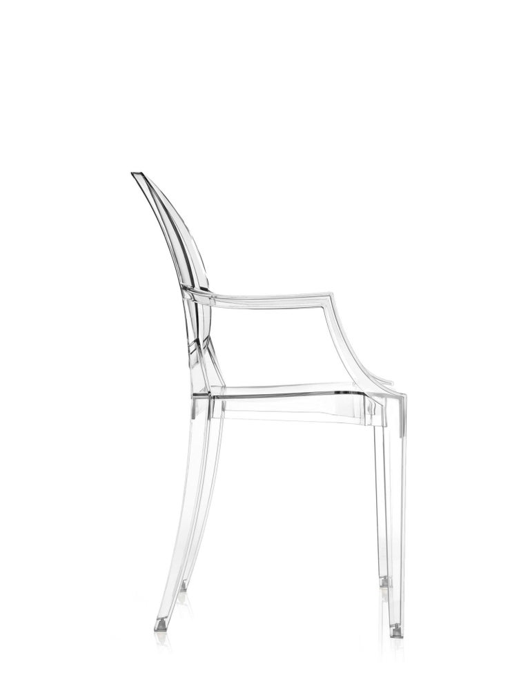 Modern Set of 2 Kartell Louis Ghost Armchairs in Crystal by Philippe Starck For Sale