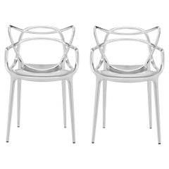 Set of 2 Kartell Masters Chairs in Chrome by Philippe Starck & Eugeni Quitllet