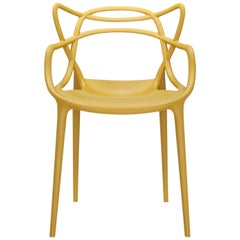 Set of 2 Kartell Masters Chairs in Mustard by Philippe Starck & Eugeni Quitllet