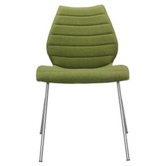 Set of 2 Kartell Maui Soft Trevira Chair in Acid Green by Vico Magistretti