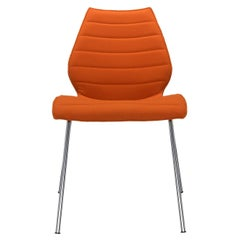 Set of 2 Kartell Maui Soft Trevira Chair in Orange by Vico Magistretti