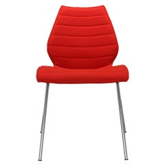 Set of 2 Kartell Maui Soft Trevira Chair in Red by Vico Magistretti