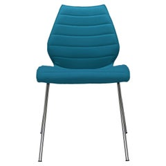 Set of 2 Kartell Maui Soft Trevira Chair in Teal by Vico Magistretti